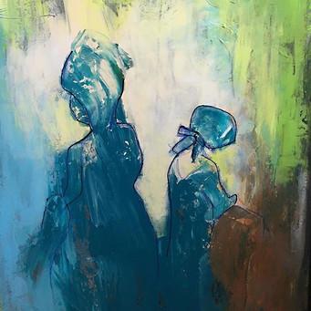 Laura Ingells and her Mother - 60x80