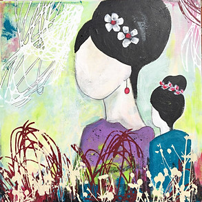 China Girl with Earring - 50x50