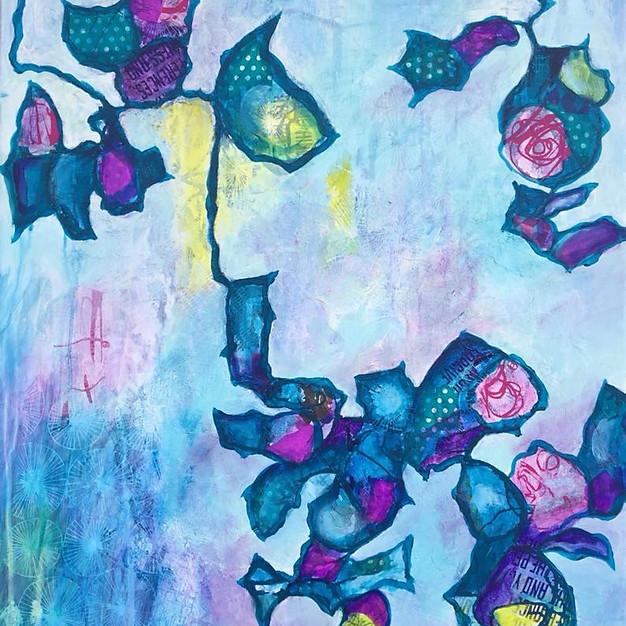 Haning Roses 1 - 50x60