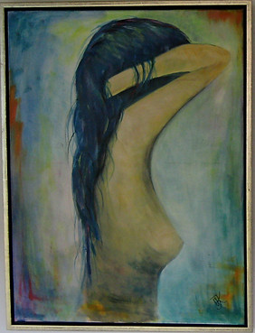 Girl with blue Hair No 1 - 60x80