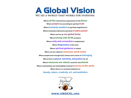 A Global Vision from Centers for Spiritual Living