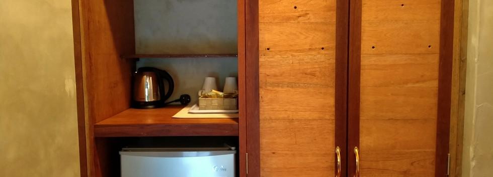 Mini Fridge & Electric Kettle