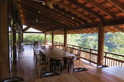 Dining on the verandah.