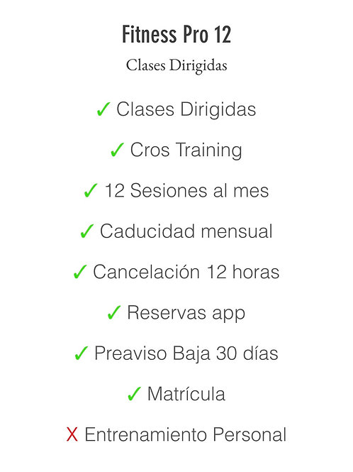 Matrícula+Fitness Pro 12