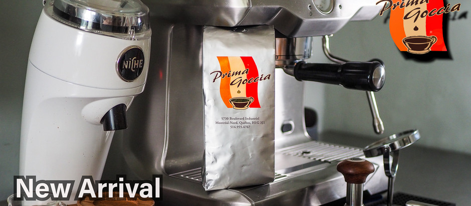 New Arrival! Prima Goccia - A Classic Espresso from Montreal