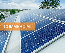 solar panels aligned and mounted perfectly on a commercial property