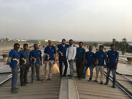 Deep Tara Team Photo after the successful completion of solar power plant chakan project | Deep Tara Enterprise