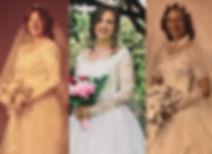 Vintage dresses, wedding heirlooms, 3 generations wedding