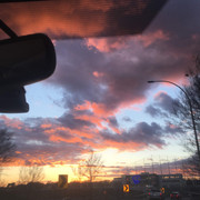 Sunset over Top Golf