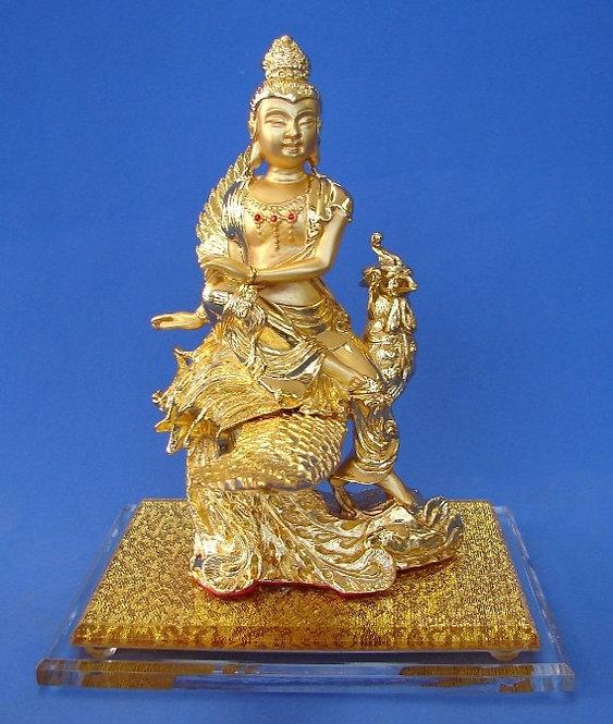 Guan Yin Rides Upon a Golden Phoenix