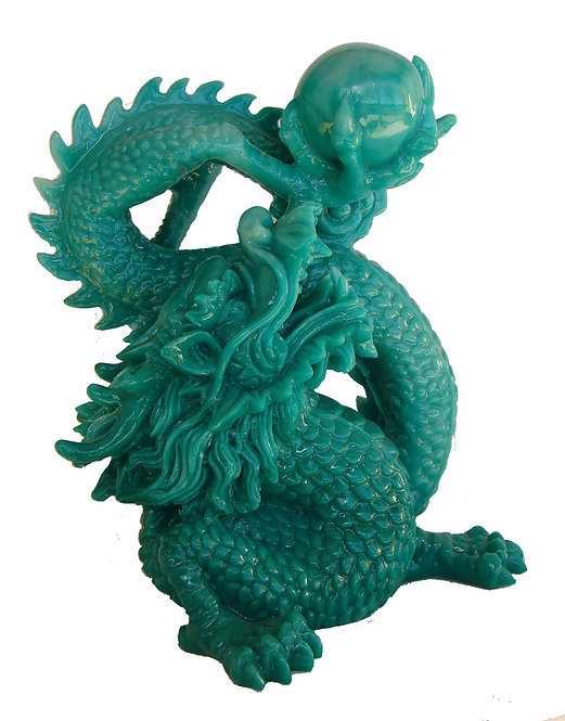 Green Dragon Grasping The Wisdom Pearl