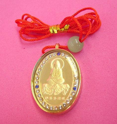 Golden Guan Yin Necklace