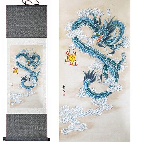 Blue Wisdom Dragon
