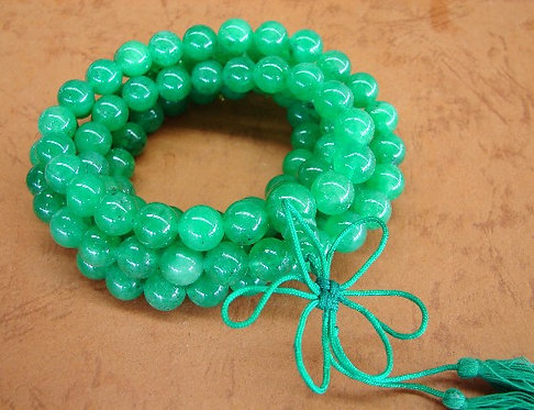Jade Meditation Bead Necklace