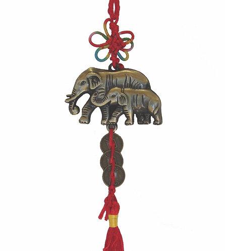 Twin Elephant Charm