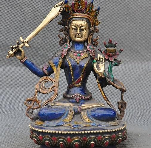 Diverse Cloisonne Tibetan Manjushri