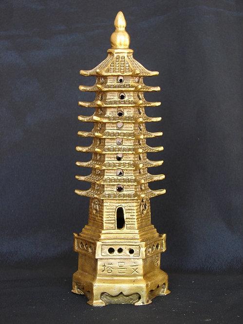 9 Floored Brass Pagoda