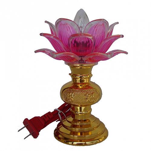 Golden Base Lotus Lamp
