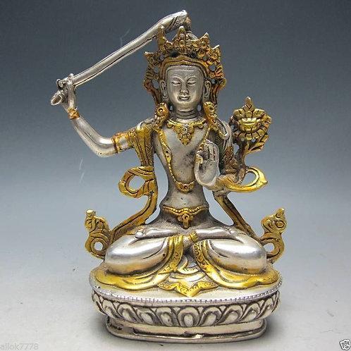 Silver Tibetan Monju