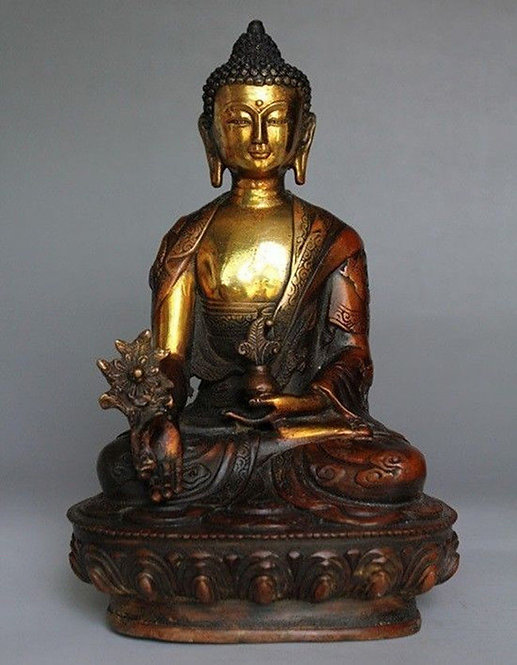 Tibetan Buddha with The Dragon Robe