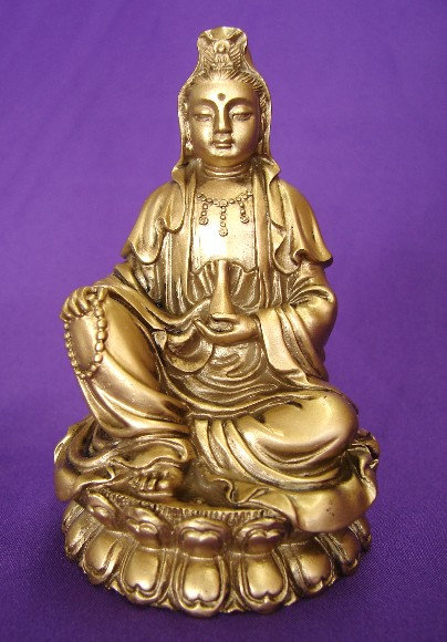 Bronze Guan Yin in Meditation