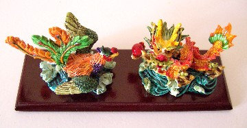 Colorful Dragon & Phoenix Set