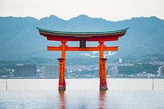 Floating torii gate of Itsukushima Shrin