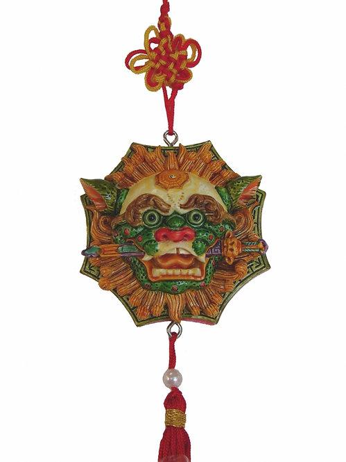 Lion Head with Sword of Wisdom Charm