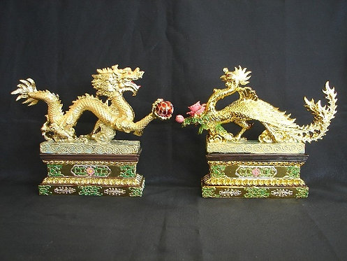 Golden Dragon & Phoenix Set