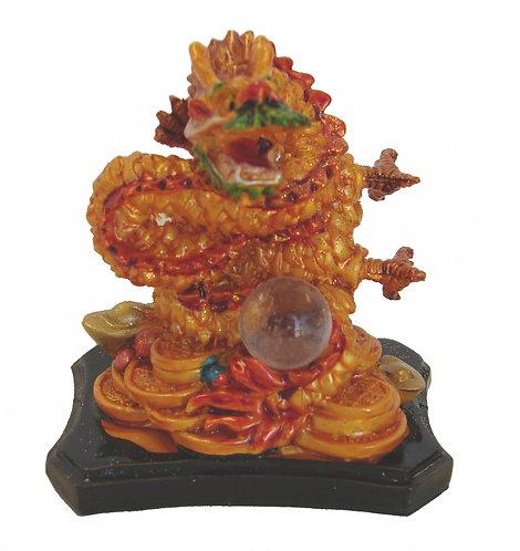 Colorful Dragon Guarding Wisdom Peral
