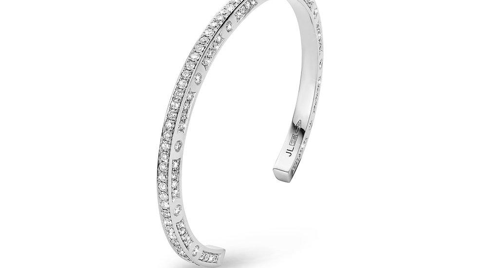 JL Bangle White Gold White Diamonds