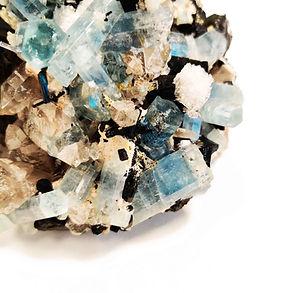 Aquamarine & Black Tourmaline Granada Gallery Mineral