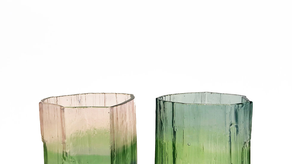 Tourmaline Rock Glasses (2pc)