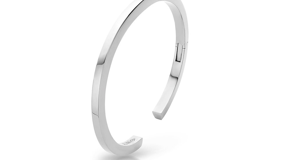 JL Bangle White Gold
