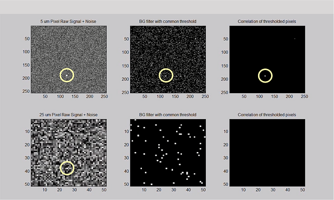 Micron Pixel Pitch Array Simulation