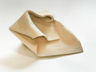 A Fold, cone 6 porcelain, 2020