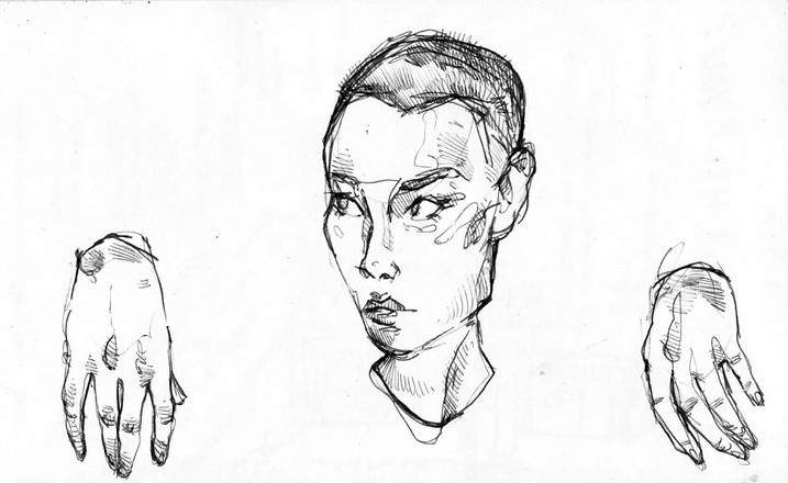 Sketchbook excerpt, ink, 2019