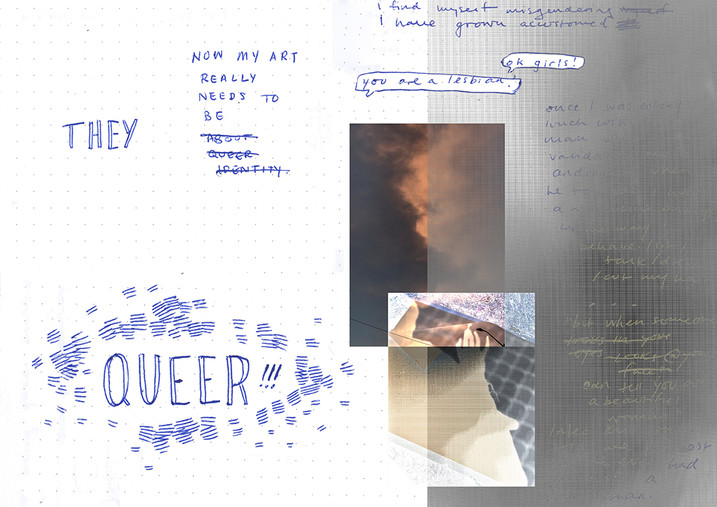 Remembering my Queerness, digital collage, 2019