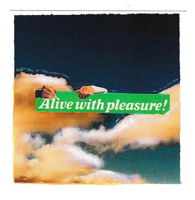 alive with pleasure!, collage & glitter, 2020