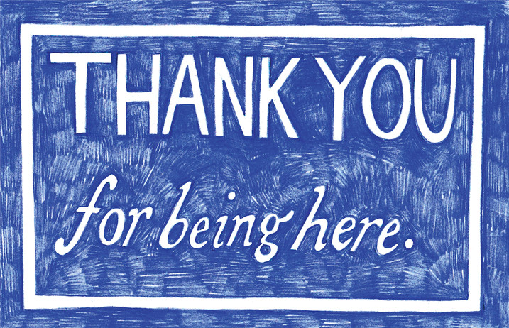 Thank You for Being Here, artist multiples for Forest City Gallery, 2020
