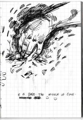 June, sketchbook excerpt, ink, 2020