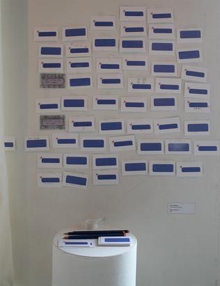 Send a Message, inkjet prints, graphite, pencils & tape, 2019