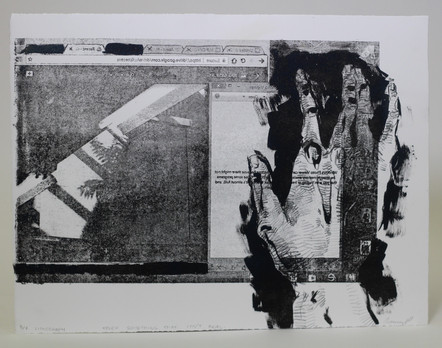 Touch Something That Isn't Real, lithograph, 2018