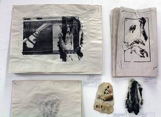 Disregarded Contributions to Printmaking, mixed media installation, 2018