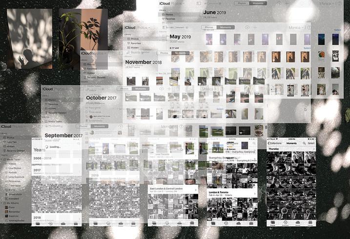 Ode to my iCloud III, digital collage, 2019