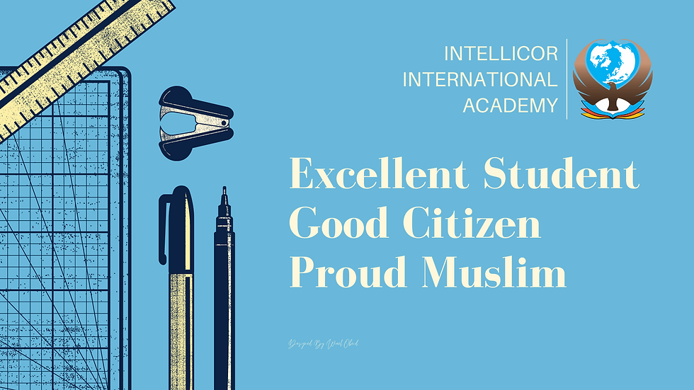 Intellicor Excedllent Student Good Citizen Proud Muslim