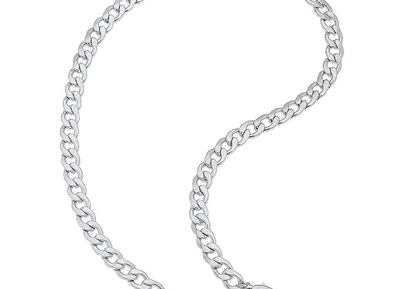 Mask Necklace-Curb Chain
