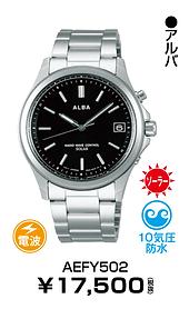 セイコーアルバ_AEFY502 ¥12,250円(税抜)