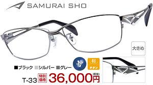 T-33 ¥36,000円(税抜)