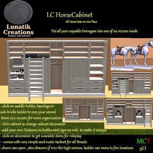 Lunatik Creations - Horse Cabinet